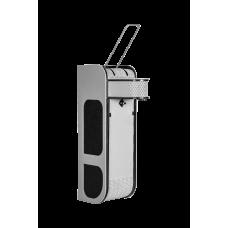 Дозатор (диспенсер) для антисептика локтевой V4 чёрно-серый закрытый 1 л