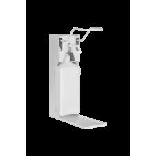 Дозатор (диспенсер) локтевой М2 металлический с еврофлаконом 1 л и каплесборником (с насадкой для геля)