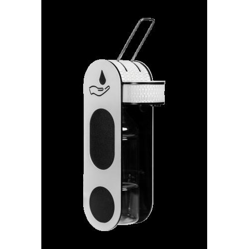 Дозатор (диспенсер) для антисептика локтевой V3 чёрно-белый 1 л
