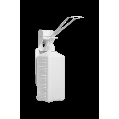 Дозатор (диспенсер) локтевой М1 металлический с еврофлаконом 1 л