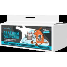 Пелёнки-подстилки впитывающие одноразовые для животных Dez Fabrika 60*40 (10 шт)