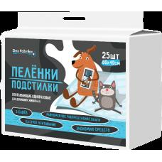 Пелёнки-подстилки впитывающие одноразовые для животных Dez Fabrika 60*40 (25 шт)