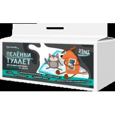 Пелёнки-туалет впитывающие одноразовые с суперабсорбентом для животных Dez Fabrika 60х60см (25шт)