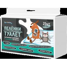Пелёнки-туалет впитывающие одноразовые с суперабсорбентом для животных Dez Fabrika 60х90см (25шт)